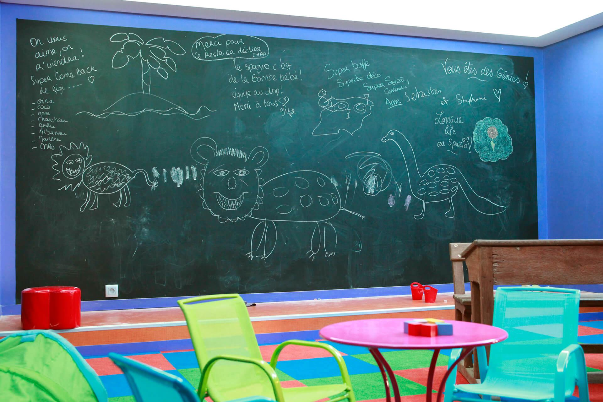Espace de jeux pour enfants Le Spazio pizzeria restaurant à Fécamp